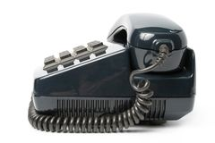 Telephone set of black color Stock Photos