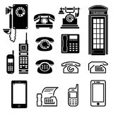 Telephone set Stock Image