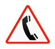Telephone Sign. Isolated on white background Stock Photo