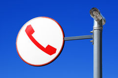 Telephone sign Stock Images