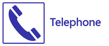 Telephone Sign Stock Photo