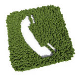 Telephone sign tree shapes Stock Photo