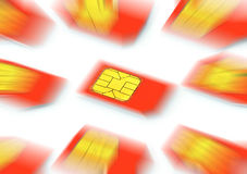 Telephone SIM cards Royalty Free Stock Photo