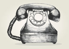 Telephone. Sketch illustration of a vintage telephone royalty free illustration