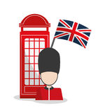Telephone and soldat design Royalty Free Stock Photography