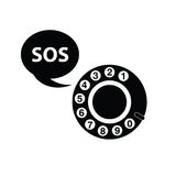 Telephone sos black  Stock Image