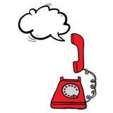 Telephone with speech buble Stock Photos