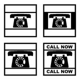 Telephone stamp set Royalty Free Stock Photo