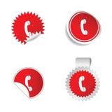 Telephone sticker  Stock Photos