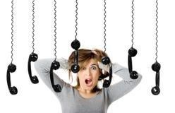Telephone Stress Royalty Free Stock Photography