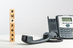Telephone support concept Royalty Free Stock Photo