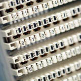 Telephone switchboard panel Royalty Free Stock Photography