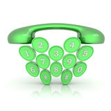 Telephone symbol Royalty Free Stock Photography