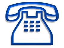 Telephone symbol Stock Image