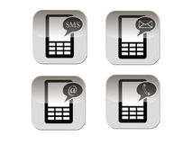 Telephone symbol. Vector icon illustrator EPS 10 royalty free illustration