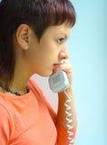 Telephone talk Stock Photo
