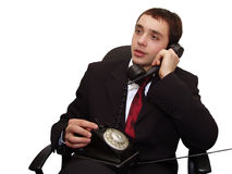 Telephone talk. Phone call stock photography