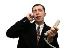 Telephone talk. Telephone conversation Royalty Free Stock Photo