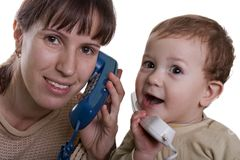 Telephone talking Royalty Free Stock Image