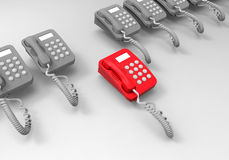 Telephone target in line concept Royalty Free Stock Photo