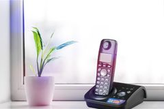 Telephone. Cordless phone equipment wireless technology dect technology communication Stock Image