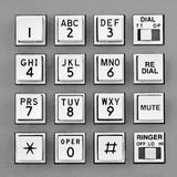 Telephone touch tone keypad Stock Images