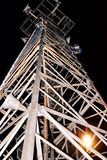 Telephone tower. The telephone tower lasts highly in the night sky Royalty Free Stock Photo