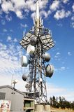 Telephone Transmission Tower. On top of Mount Mansfield, Vermont, USA stock photography