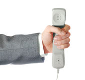 Telephone tube in a hand Royalty Free Stock Photos