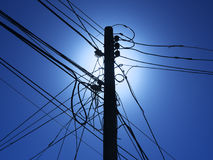 Telephone or utility pole Stock Image