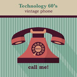Telephone. Vector illustration of a vintage telephone Stock Photos