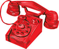 Telephone Vintage Drawing Royalty Free Stock Photography
