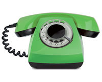 Telephone vintage, isolated. Vector Illustration Stock Photo