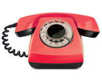 Telephone vintage, isolated. Vector Illustration Royalty Free Stock Images