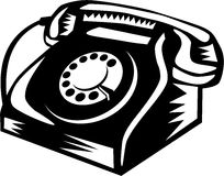 Telephone Vintage Woodcut Royalty Free Stock Images