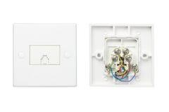 Telephone wall sockets Royalty Free Stock Photography