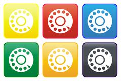 Telephone web button Stock Images