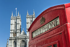 Telephone and Westminster Abbey Stock Image