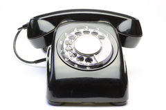Telephone in a white background Stock Photos