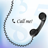 Telephone with wire Stock Image