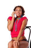 Telephone Woman stock images