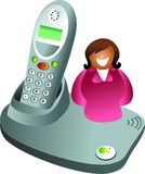 Telephone woman Stock Photo