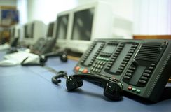 Telephones off the hook Stock Photos