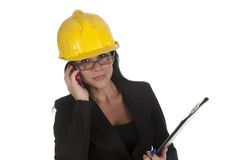 Telephoning. One female boss of work telephoning Royalty Free Stock Photo