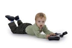 Telephoning boy Royalty Free Stock Photo