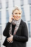 Telephoning businesswoman Stock Photography