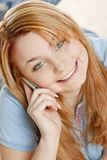 Telephoning woman Royalty Free Stock Photo