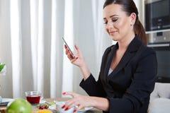 Telephoning woman Stock Photo