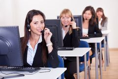 Telephonists in a call centre Stock Photo