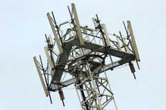 Telephony antenna. On a metal structure Royalty Free Stock Photography